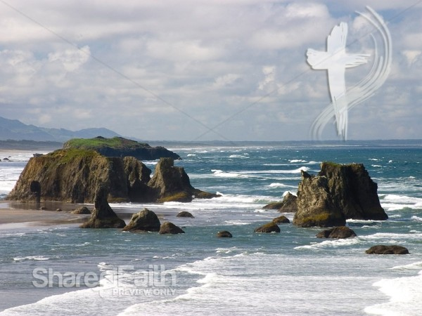 Peaceful Ocean and Cross