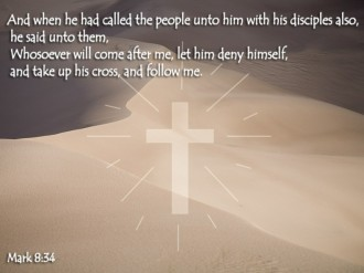 Cross and Scripture from Mark