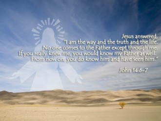 Jesus and Desert   I am the Way
