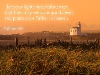 Shining Light Verse from Matthew