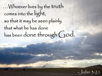 Truth and Light Verse from John