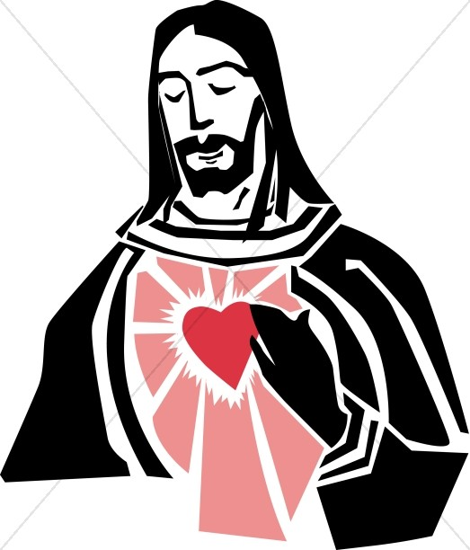 Jesus and the Sacred Heart Graphic