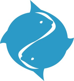 Blue Two Fish Symbol