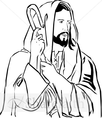 christ the good shepherd jesus clipart