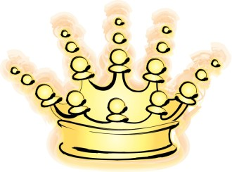 Glowing Gold Crown