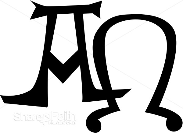 Alpha and Omega Greek Letters