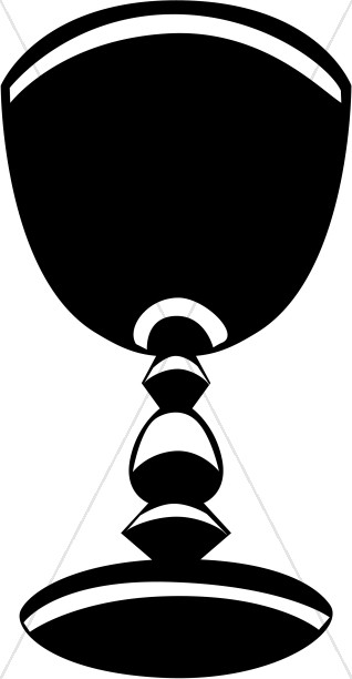 Black and White Striped Chalice