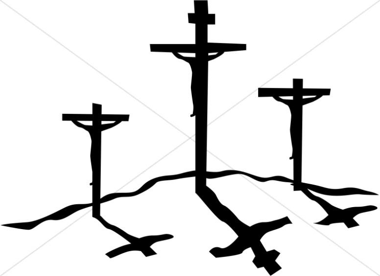 Crucifxion Silhouettes