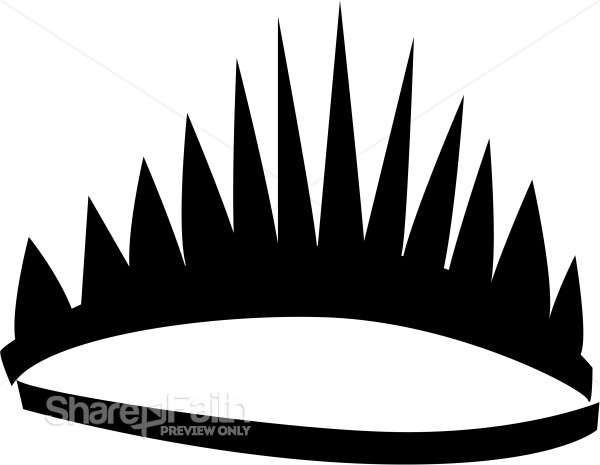 Black Stylized Tiara