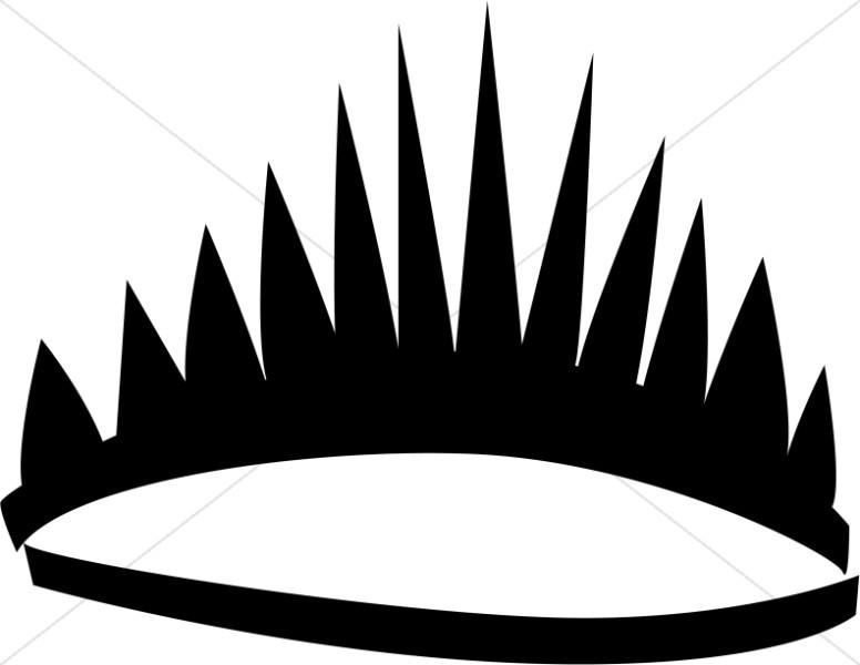 Black Stylized Tiara