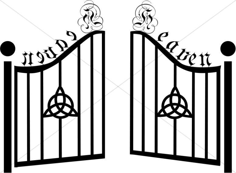 Gates of Heaven with Celtic Trinity