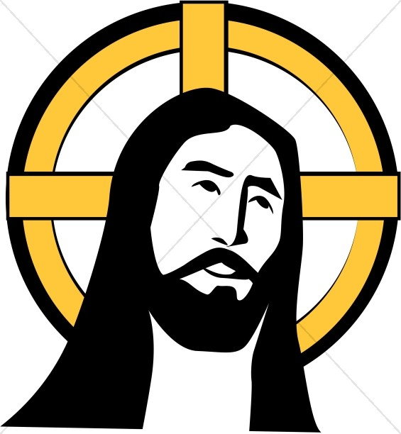 Jesus with Cross Halo