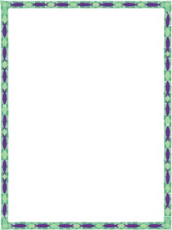 Green and Purple Stained Glass 2