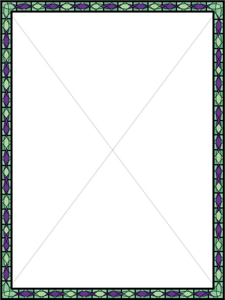 Green and Purple Stained Glass