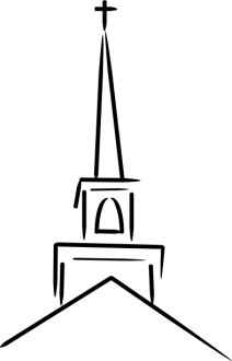 Church Steeple Topped with Cross
