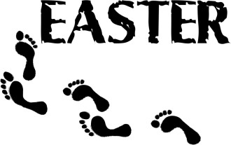Rugged Easter with Footprints