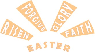 Easter Words in Rays