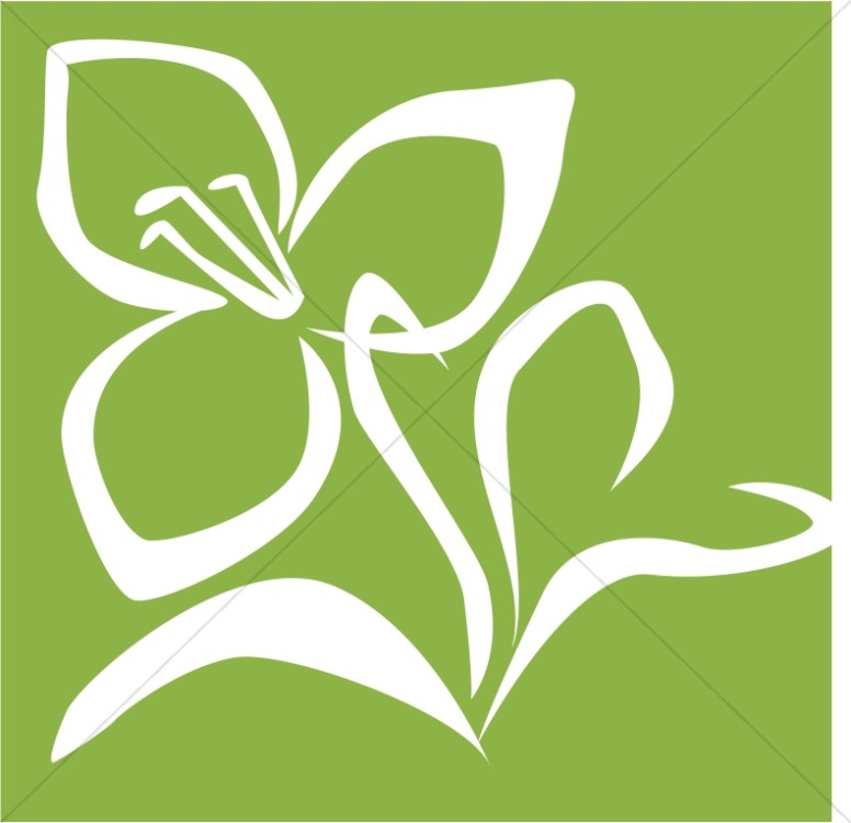 Easter Lily Stamp