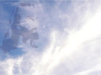 Face of Jesus in Clouds