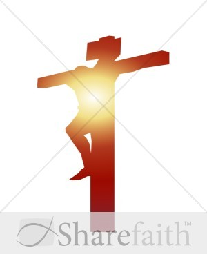 Shining Christ on Cross