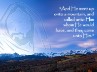 Jesus on the Mount Quote from Mark