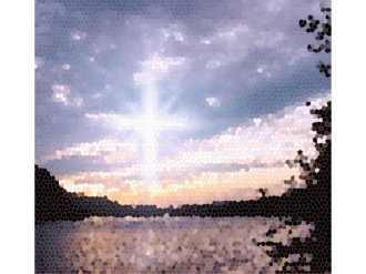 Morning Lake and Cross