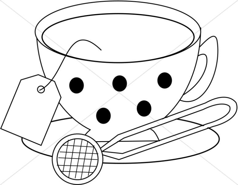 Large Polka Dots on Cup