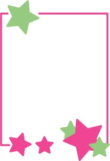 Bright Green and Pink Stars