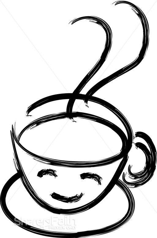 Smiling Coffee Cup | Coffee Hour Clipart