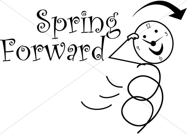 Spring Forward Daylight Savings Stick Figure