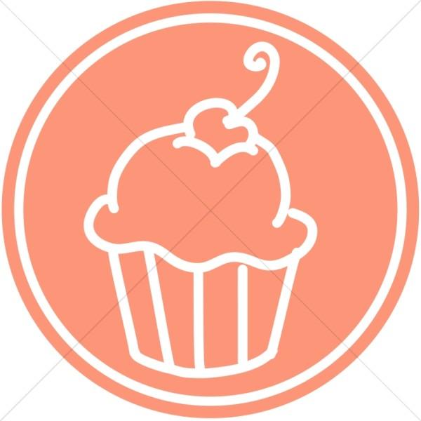 Cupcake Design in Circle