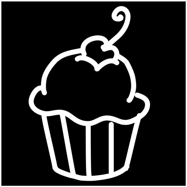 Cupcake Logo Black Church Food Clipart