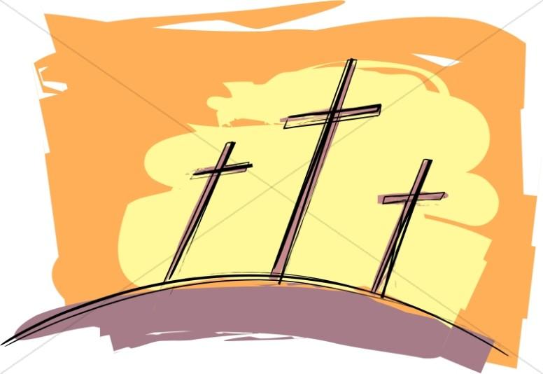 Three Crosses, Sunset