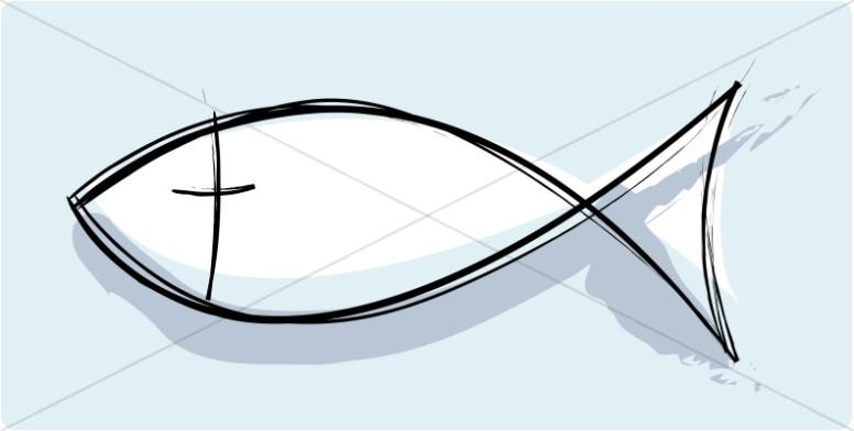 Artistic Christian Fish Symbol