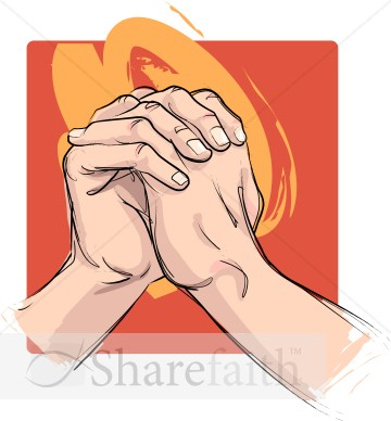 The Clasped Hands | Prayer Clipart