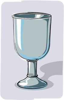 Gray Communion Cup with Shadow