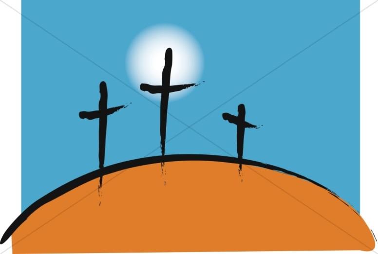 Symbolic Calvary Crosses