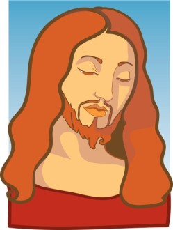 Stylized Jesus Portrait