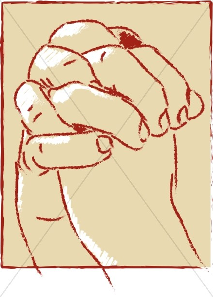 Large Clasped Hands