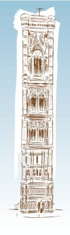 european cathedral illustration