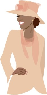 Stylish Woman Clipart