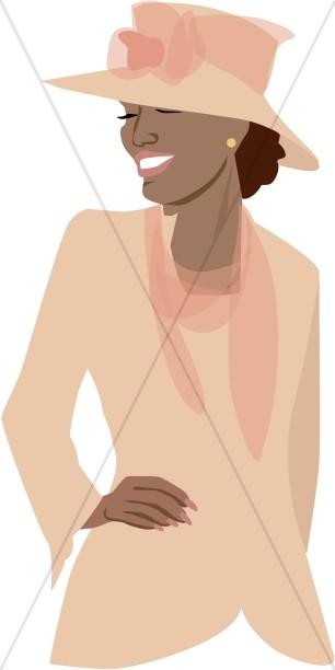 Stylish Woman Clipart