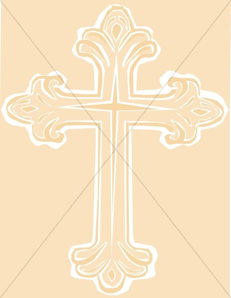 Gold Cross Clipart Background