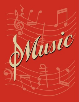 Music Flyer Red Background
