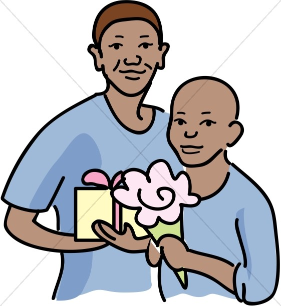Holding Gifts Clipart
