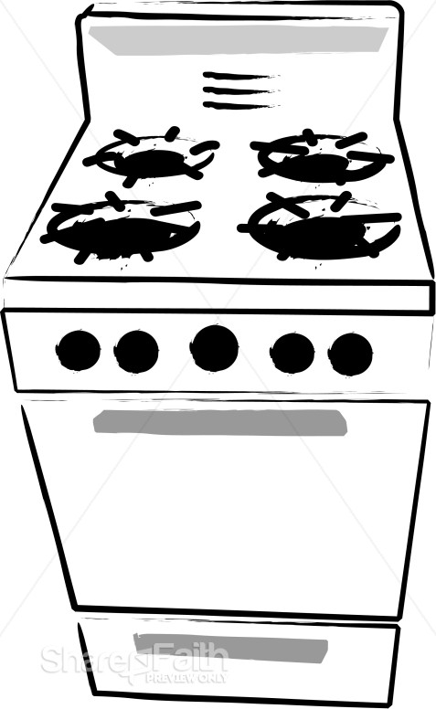 Cafeteria Kitchen Stove
