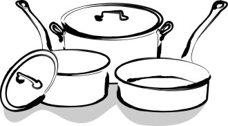 Cafeteria Pots and Pans