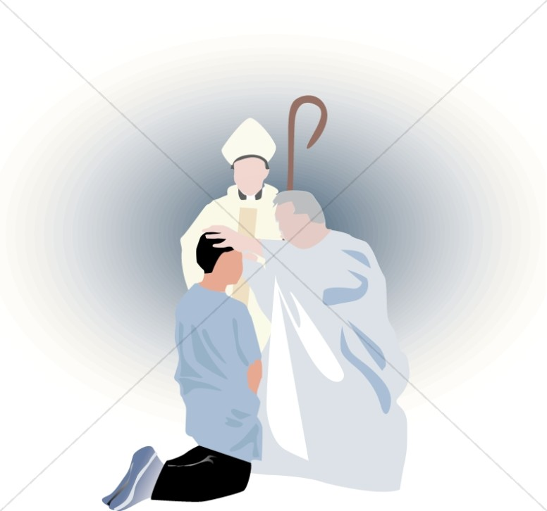 Simple Confirmation Scene | Baptism Clipart