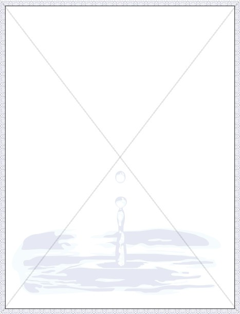 Holy Water Certificate Border