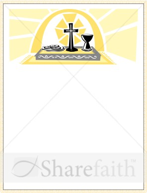 Communion Certificate Gold Border